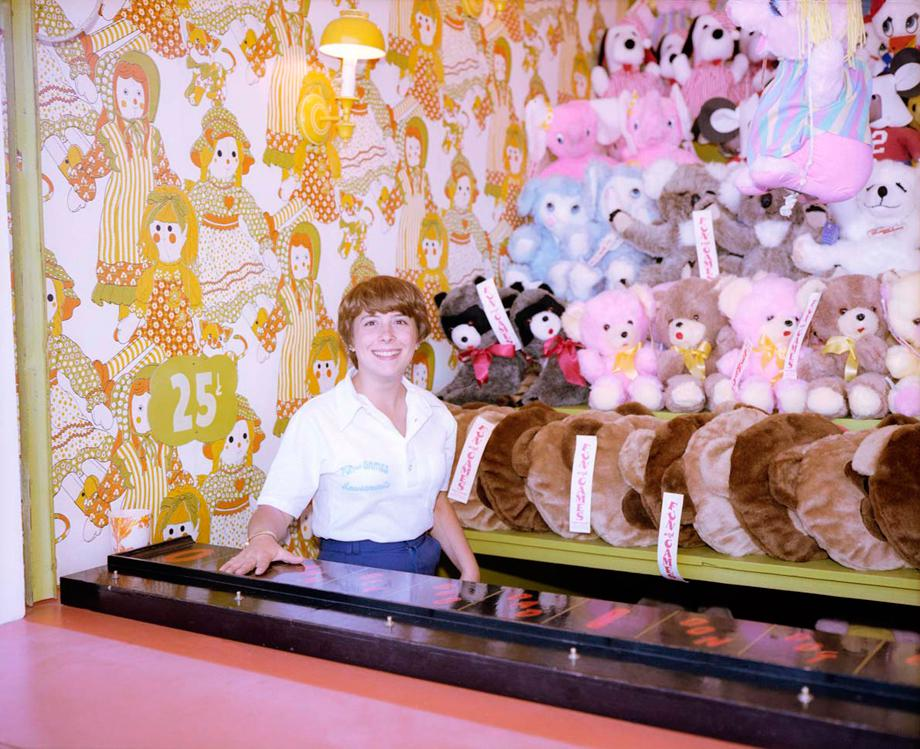 Girl with Stuffed Animals, Asbury Park, New Jersey, 1980