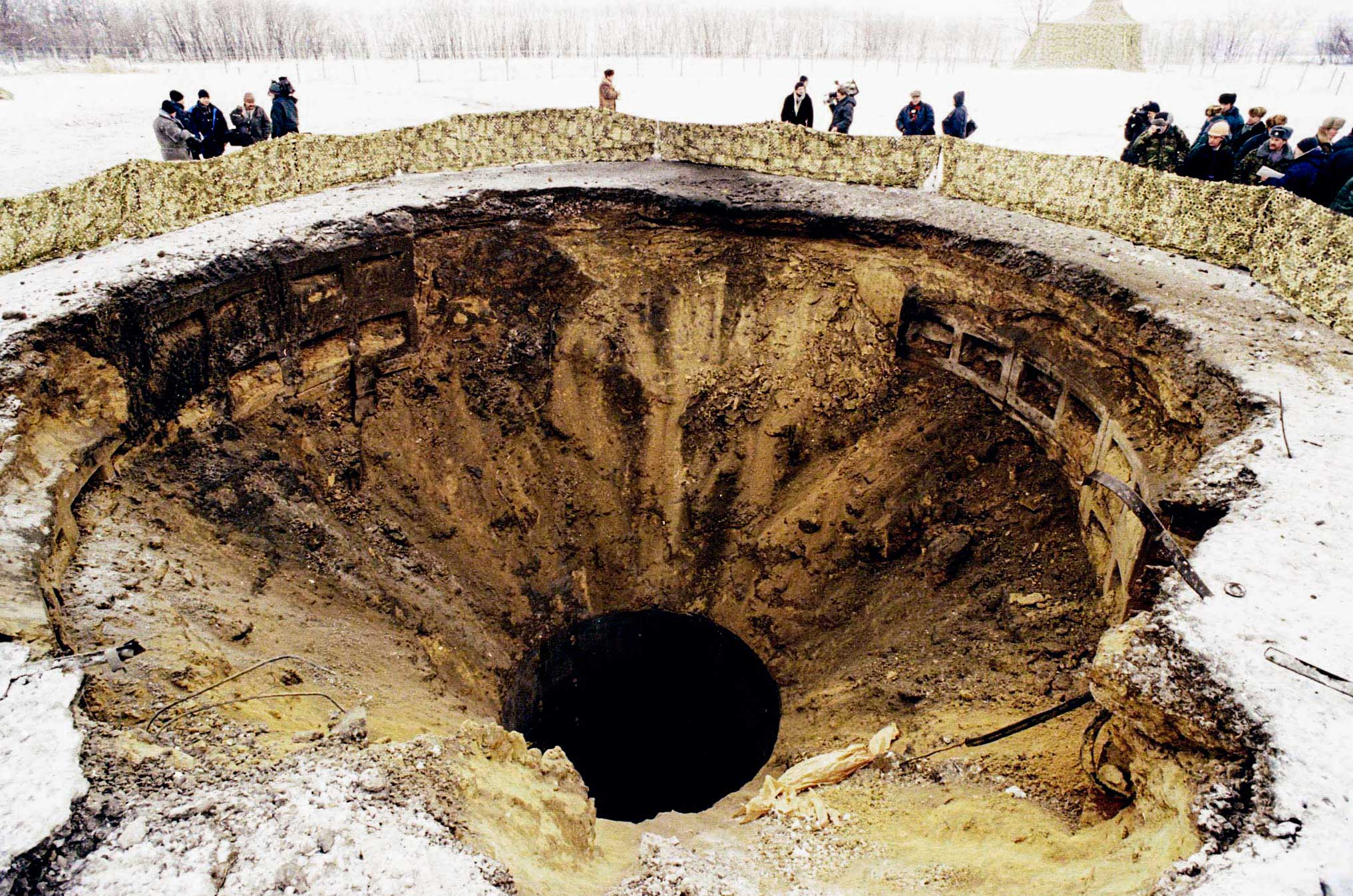 Destroyed nuclear missile silo at a military base in Pervomaisk, about 600 km. from Kiev.