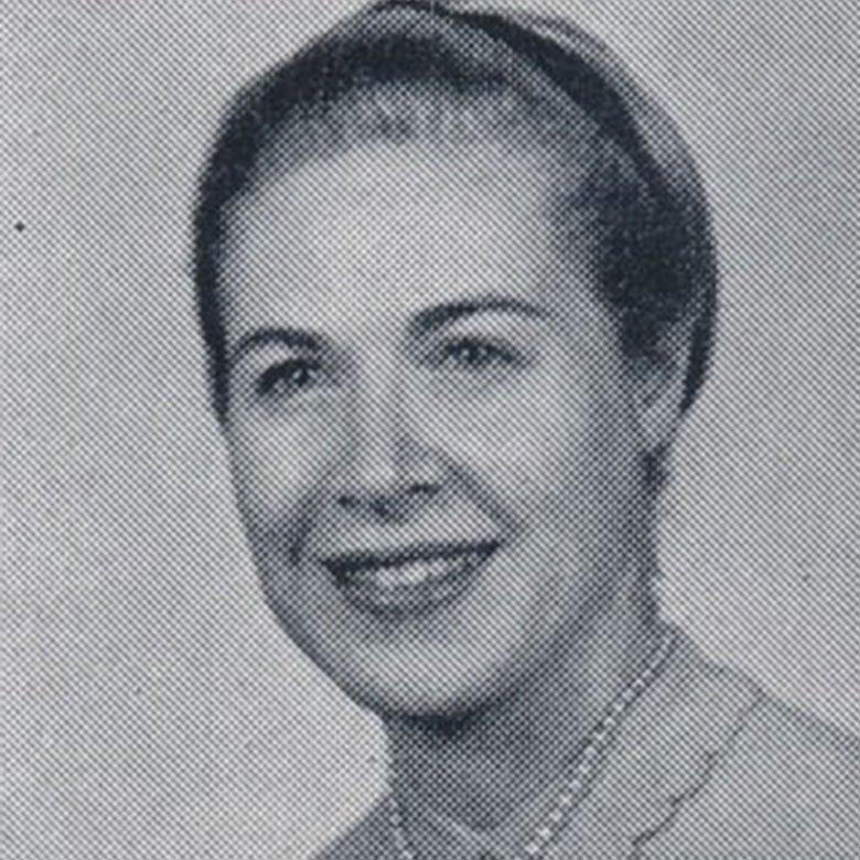 Yearbook photo of Rhoda Solin Isselbacher.