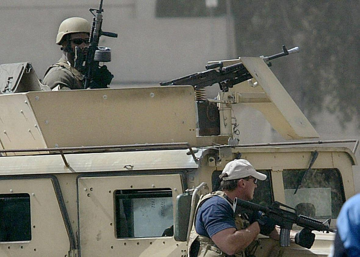 Blackwater US private security contractor.
