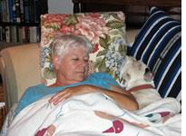 My mother was happy to adopt our pets, who are thrilled with the arrangement         Click on image to enlarge.