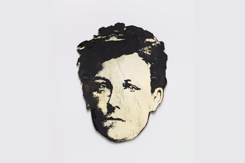 A mask of Rimbaud's face.
