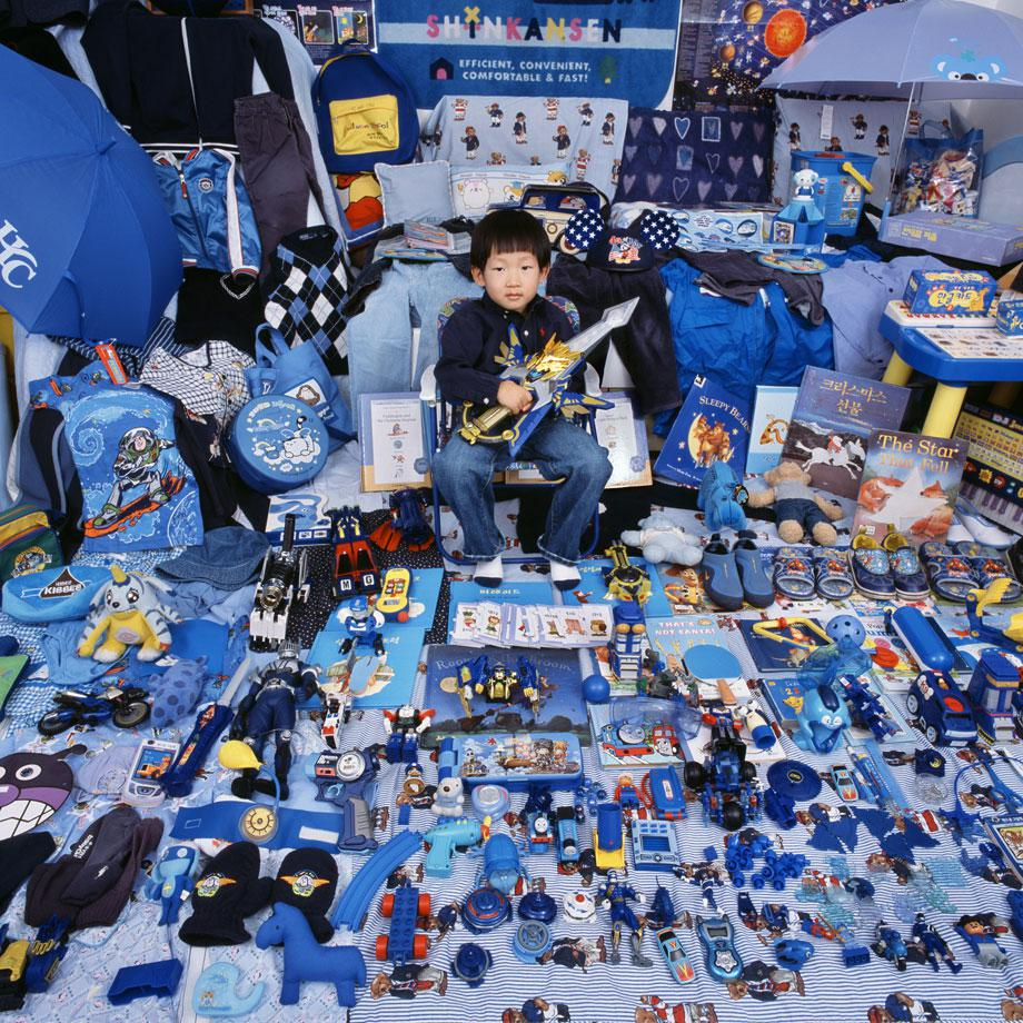 """The Blue Project"" Kihun and His Blue Things, 2007"