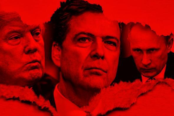 Donald Trump, James Comey, Vladimir Putin.