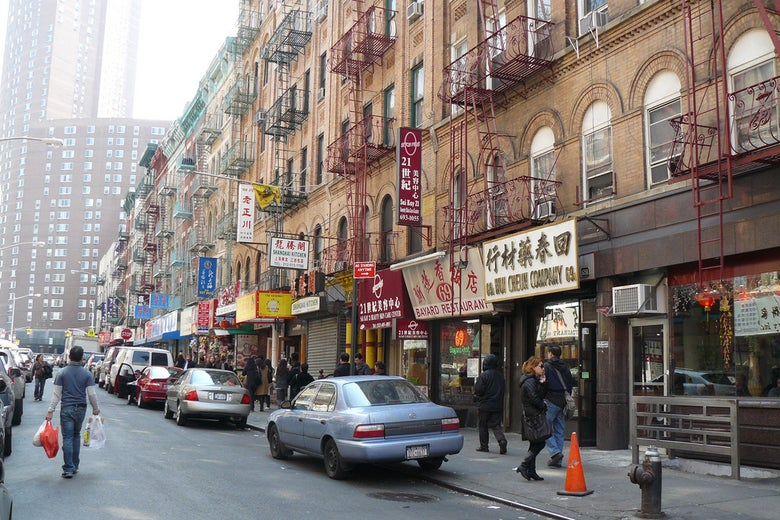 A street in Chinatown, New York.
