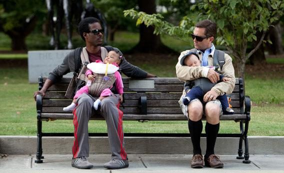 Vic (Chris Rock, left) and Craig (Tom Lennon, right) in WHAT TO EXPECT WHEN YOU'RE EXPECTING.