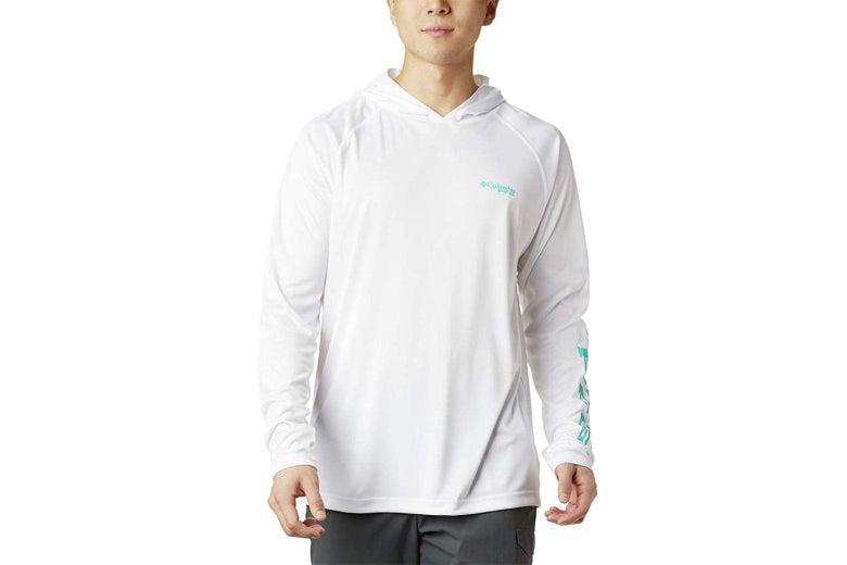 Columbia white men's hoodie.