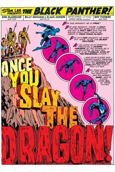 Excerpt from Jungle Action No. 11. Art by Billy Graham, Klaus Janson, Glynis Wein, and Artie Simek.