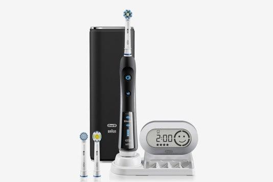 Black Oral-B Pro 7000 SmartSeries electric toothbrush.