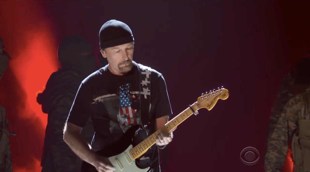 The Edge at the Grammys
