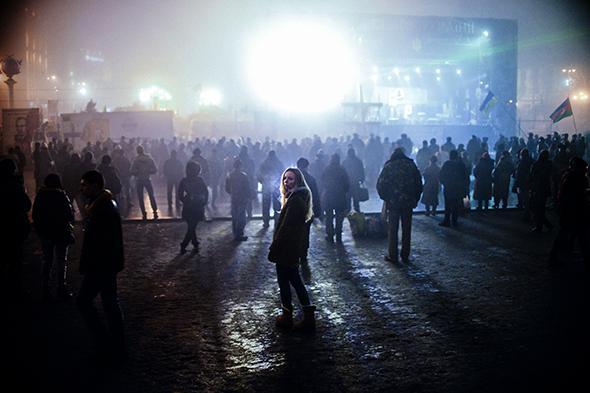 Woman in Kiev, March 2014