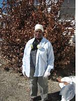 Johnnye Jackson says goodbye to her home in the Ninth Ward. Click image to expand.