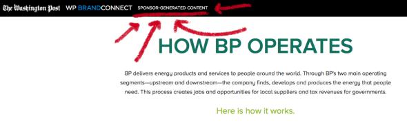 Washington Post BP sponsored article