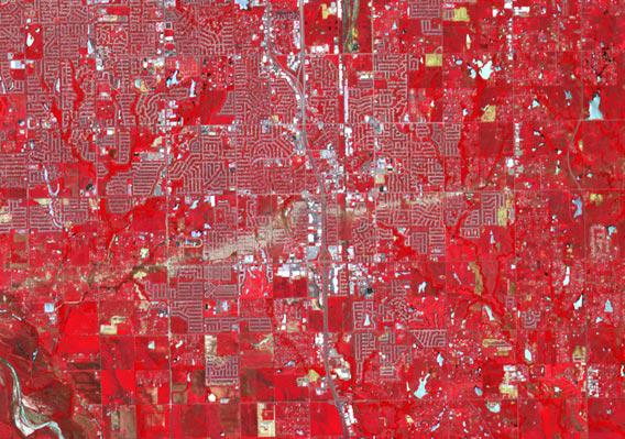 NASA satellite picture of the Moore Oklahoma tornado path