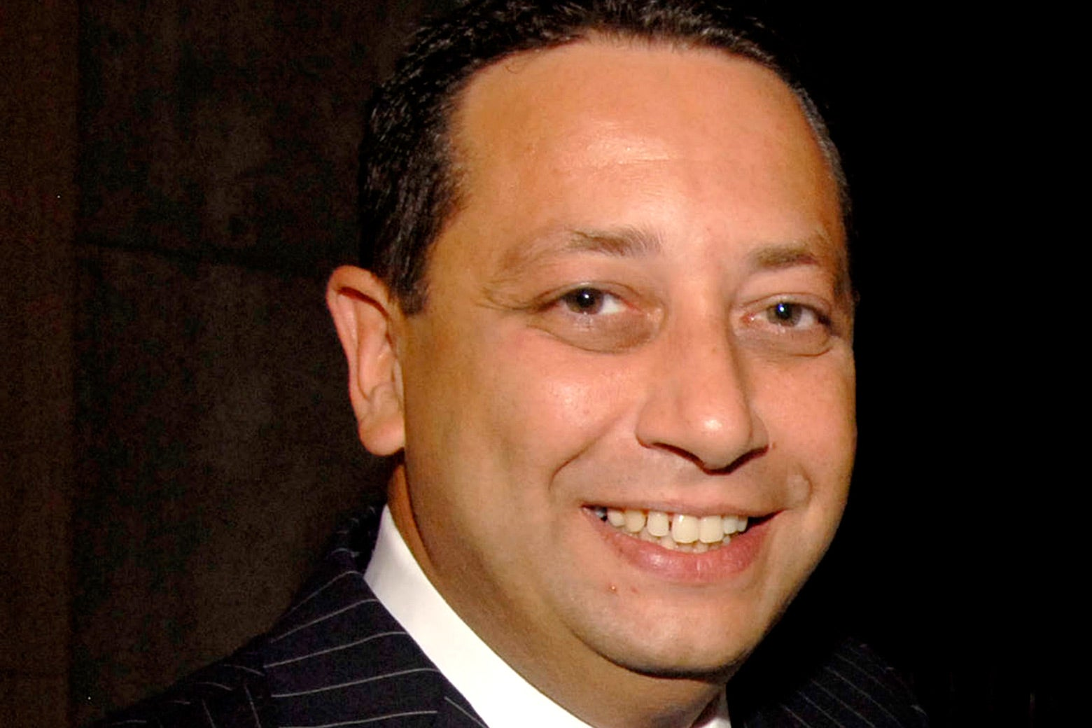 Close-up on Felix Sater's face taken in New York City in 2007.