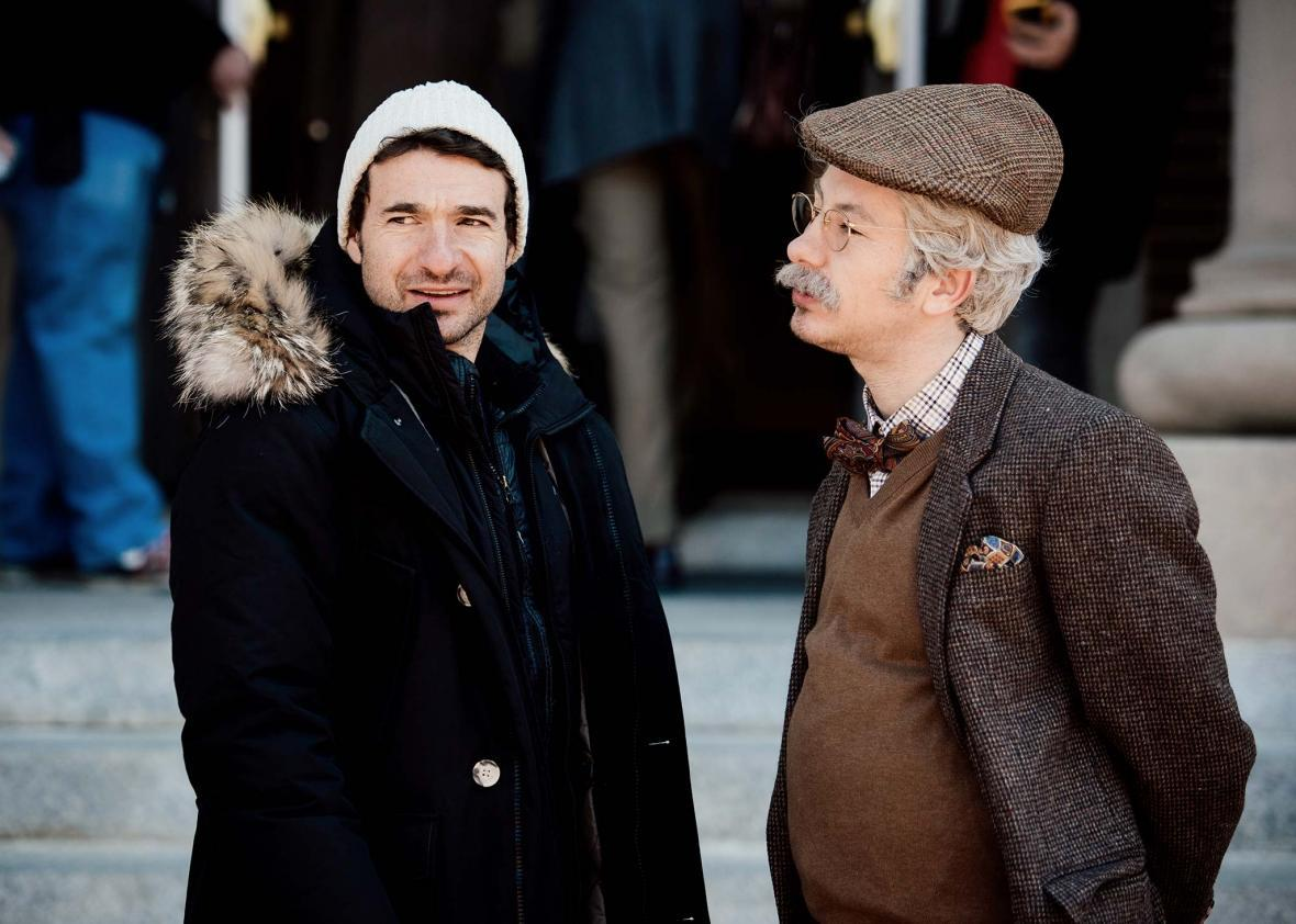 Director Bart Layton with Barry Keoghan as Spencer in American Animals.