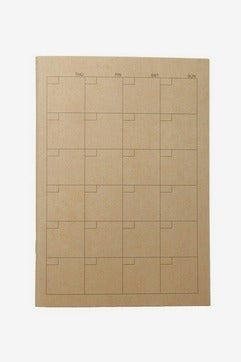 MUJI A5 Monthly Schedule Note