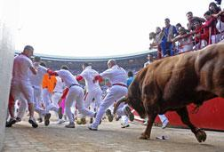 The running of the bulls. Click image to expand.