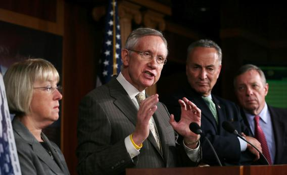 Democrats: U.S. Senate Majority Leader Sen. Harry Reid, D-Nev.; Senate Majority Whip Sen. Richard Durbin, D-Ill.; Sen. Charles Schumer, D-N.Y.; and Sen. Patty Murray, D-Wash.