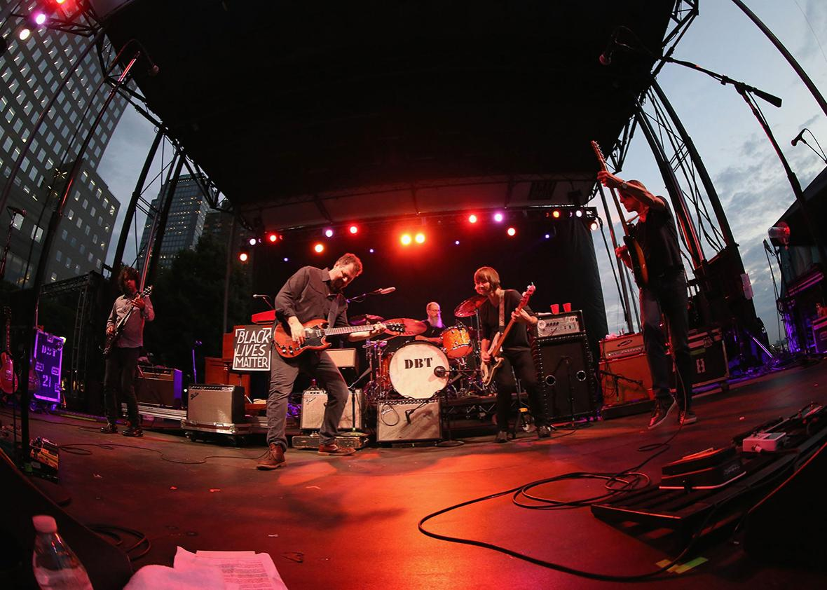 Drive-By Truckers perform on Day Two of the 2016 Lowdown Hudson Music Fest at Brookfield Place Waterfront Plaza on July 13, 2016 in New York City.