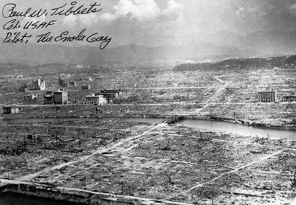Hiroshima aftermath, Aug. 6, 1945.