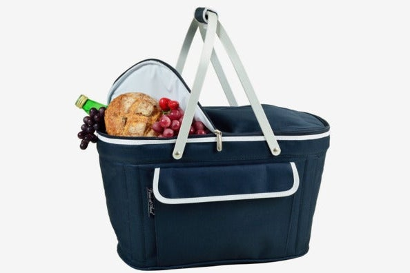 Picnic at Ascot Large Family Size Insulated Folding Collapsible Picnic Basket Cooler