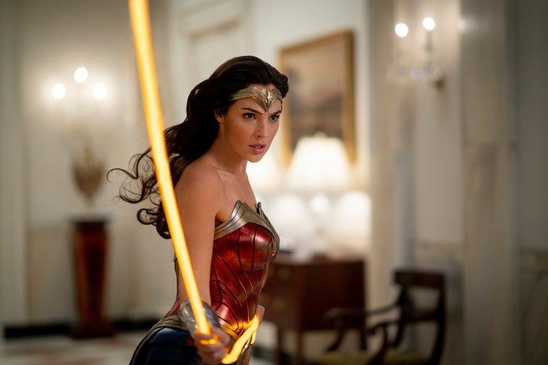 Wonder Woman wields her golden lasso