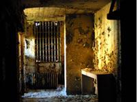 Inside the old Belzoni jail, today past the verge of ruin