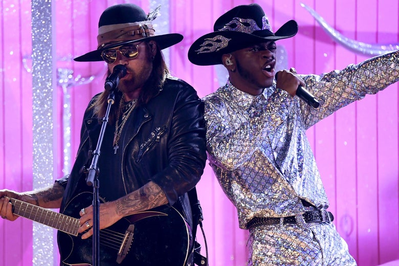 """Lil Nas X Performed Every """"Old Town Road"""" Remix at Once at the Grammys"""