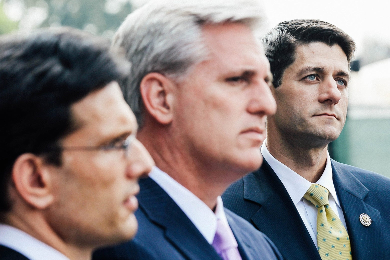 GOP Reps. Eric Cantor, Kevin McCarthy, and Paul Ryan during a June 2011 media briefing in Washington.