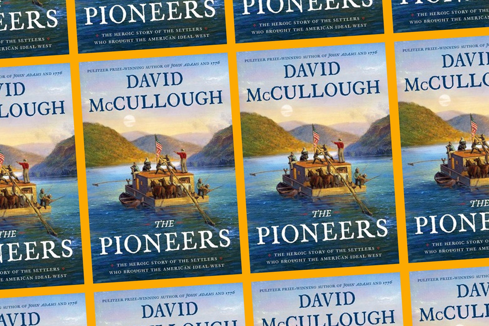 Photo illustration for The Pioneers' book cover.