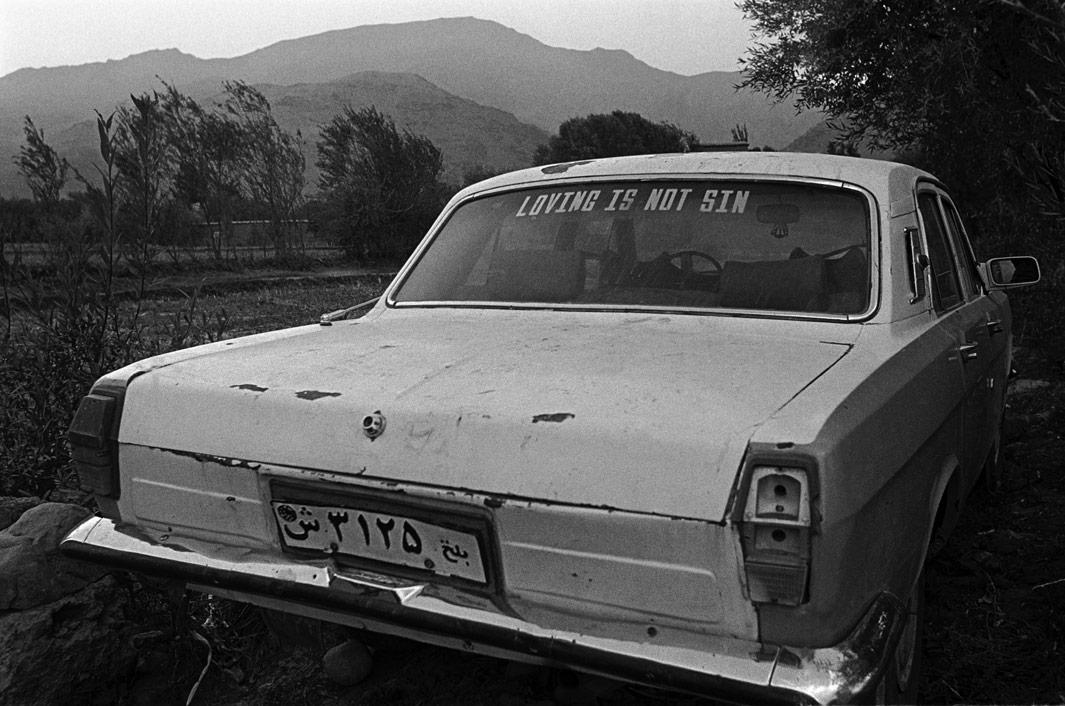 Gulbahar, Kapisa Province. November 2001 A car parked in a field.