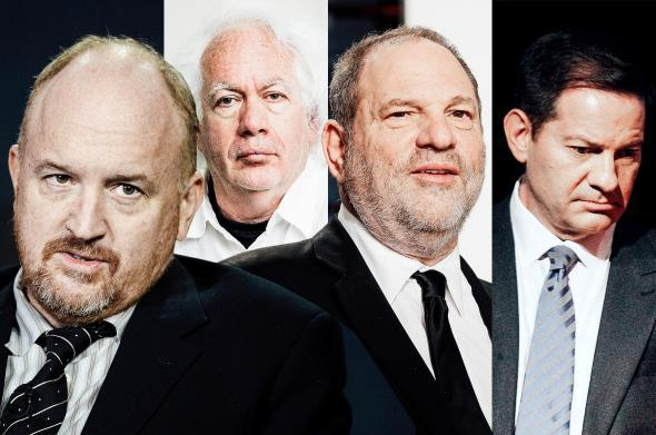 Louis C.K., Leon Wieseltier, Harvey Weinstein, Mark Halperin.
