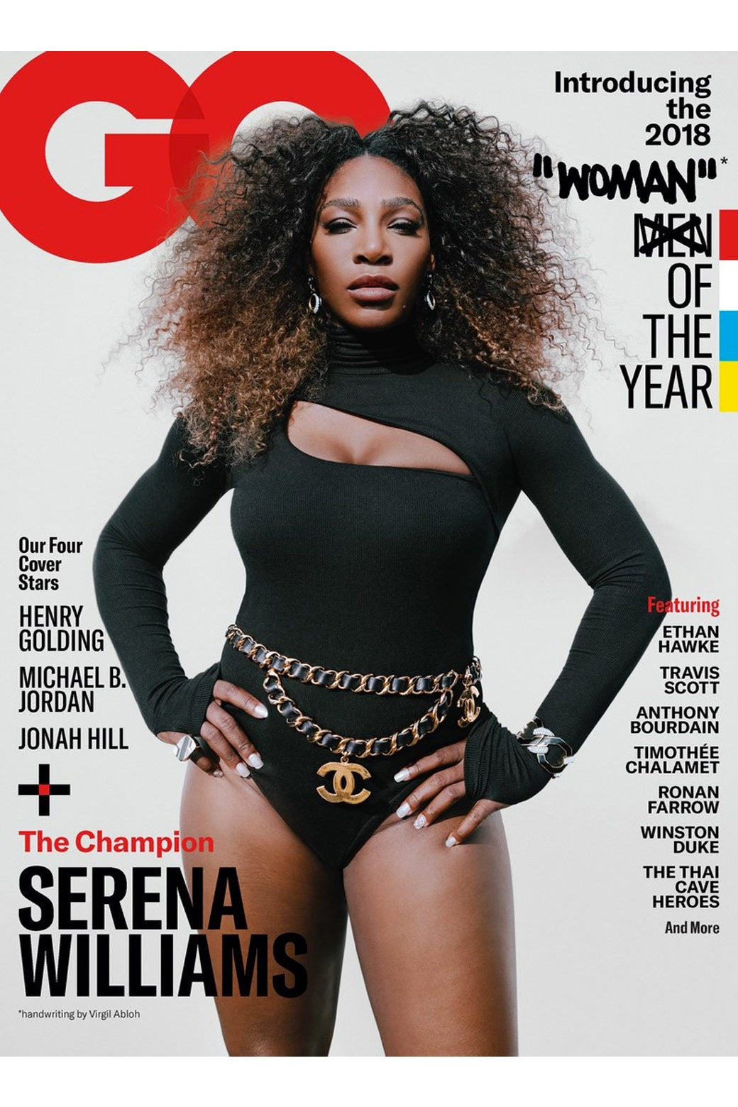 Serena Williams on the cover of GQ magazine.