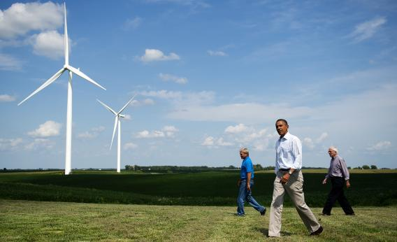 Barack Obama wind power