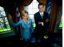 Wax figurines of Hillary Clinton and Barack Obama. Click image to expand.