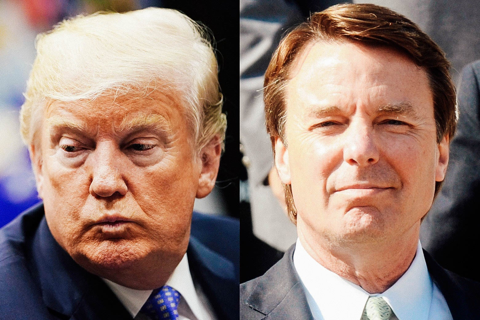 Donald Trump and John Edwards.