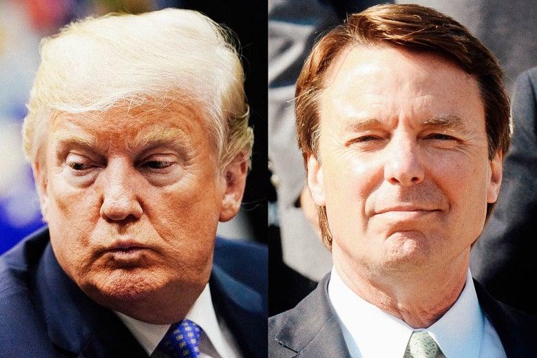 Donald Trump and John Edwards.