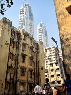 Rehousing apartments and luxury hi-rises in Mumbai, India.