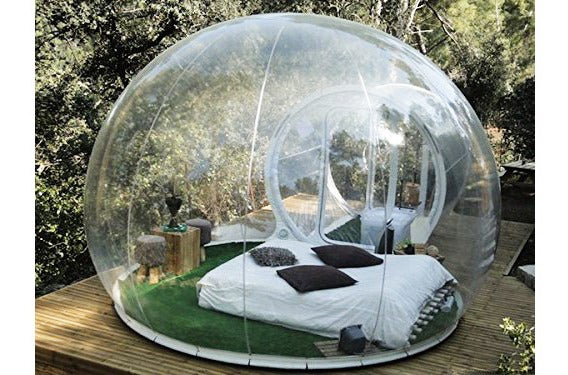 Outdoor Single-Tunnel Inflatable Bubble Tent.