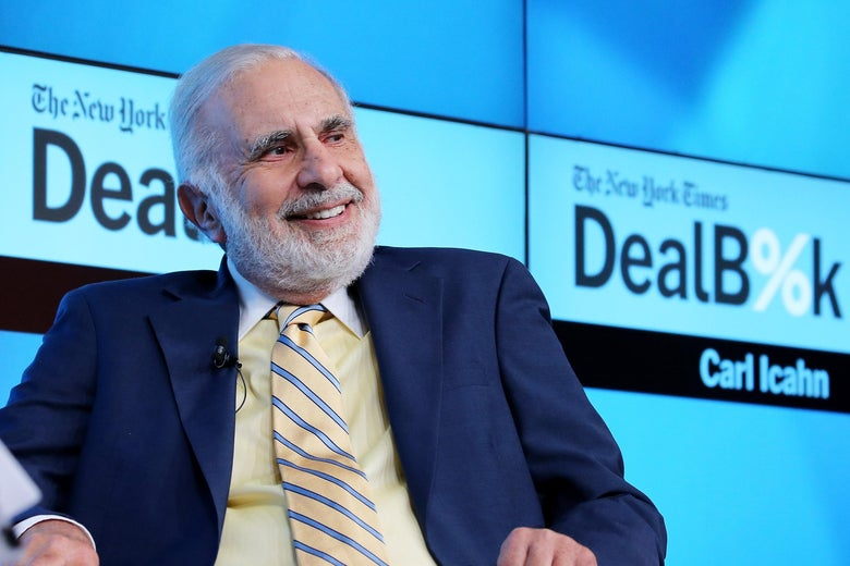 NEW YORK, NY - NOVEMBER 03:  Chairman of Icahn Enterprises Carl Icahn participates in a panel discussion at the New York Times 2015 DealBook Conference at the Whitney Museum of American Art on November 3, 2015 in New York City.  (Photo by Neilson Barnard/Getty Images for New York Times)