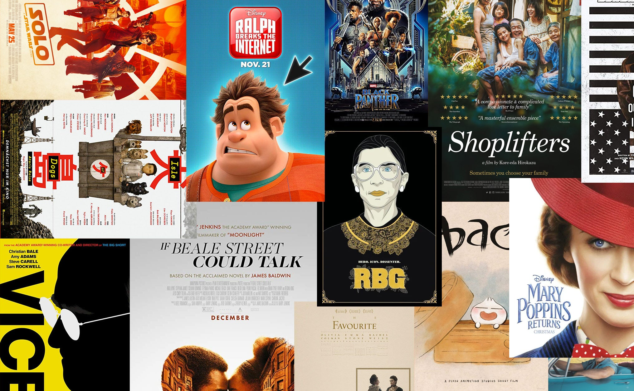 A collage of various Oscar-nominated film posters.