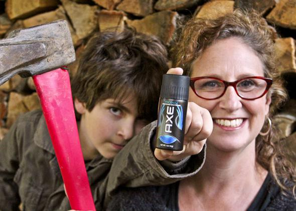 Axe men's body spray: What happens when a woman wears it for a week?