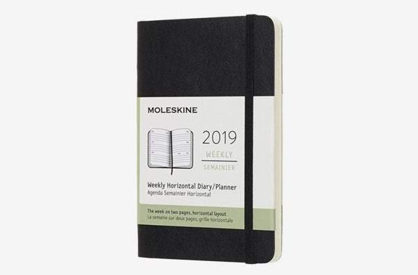 Moleskine Classic Soft Cover 2019 12 Month Weekly Horizontal Planner.