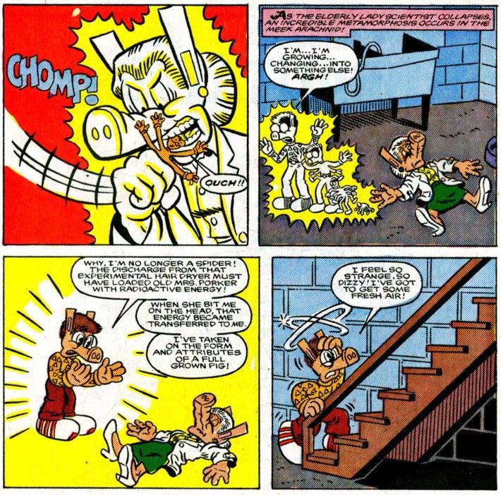 Four-block comic strip.