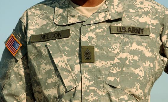 Pixelated Army Uniform.