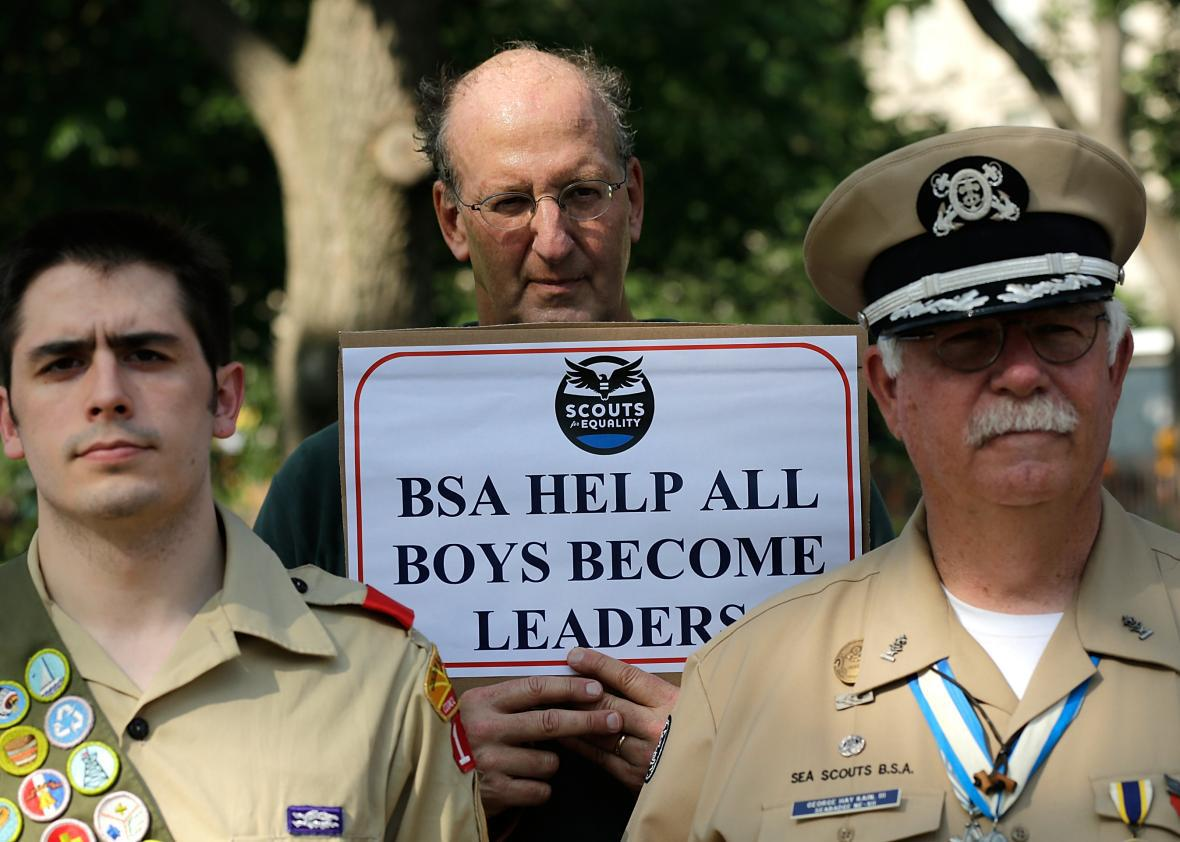 Boy Scouts drop ban on gay leaders, but more change is needed