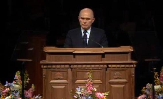 Dallin Oaks speaking at the General Conference.