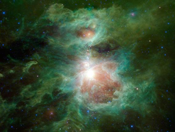 Orion, in infrared