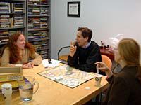 Rebecca Phillips, Steve Waldman, and Wendy Schuman employ Beliefnet's rigorous board-game-testing regimen